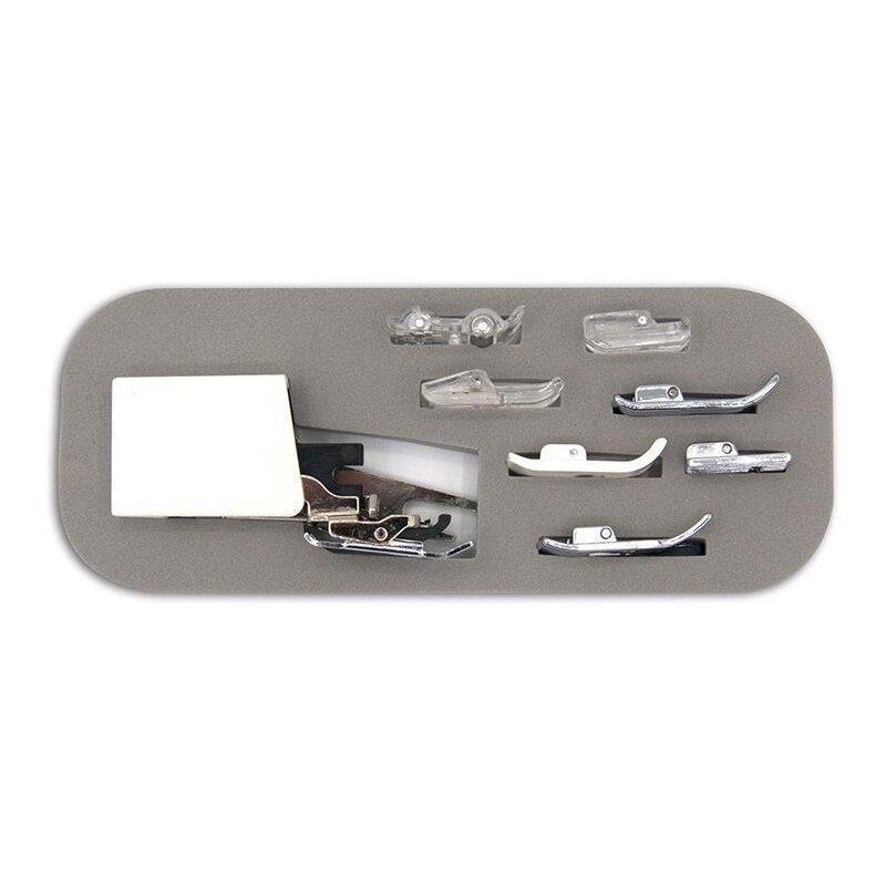 Füßchenset 8 tlg 7mm für Brother Obertransporteur