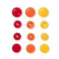 Prym Love Druckknopf Color Blume 13,6mm gelb/rot/gold