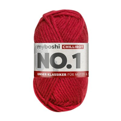 MyBoshi No.1 Wolle 50g Fb.134 Chillirot
